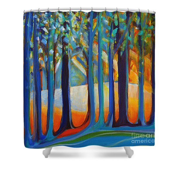 October Sunshine Shower Curtain