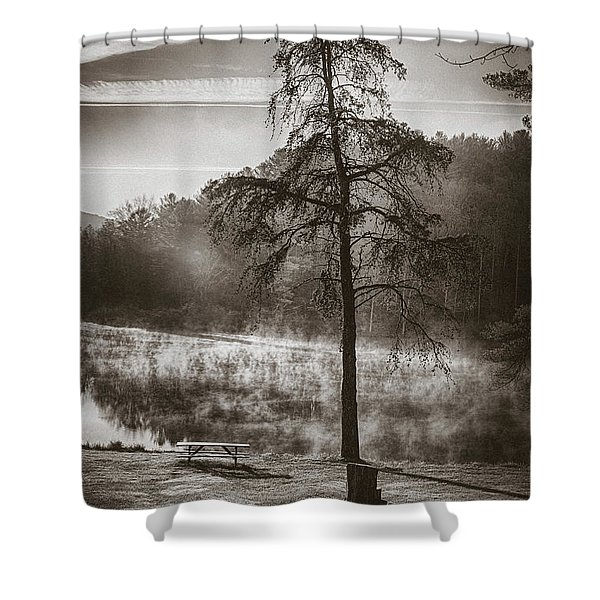 Odd Pair Sepia Shower Curtain