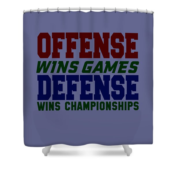 Offence Defense Shower Curtain