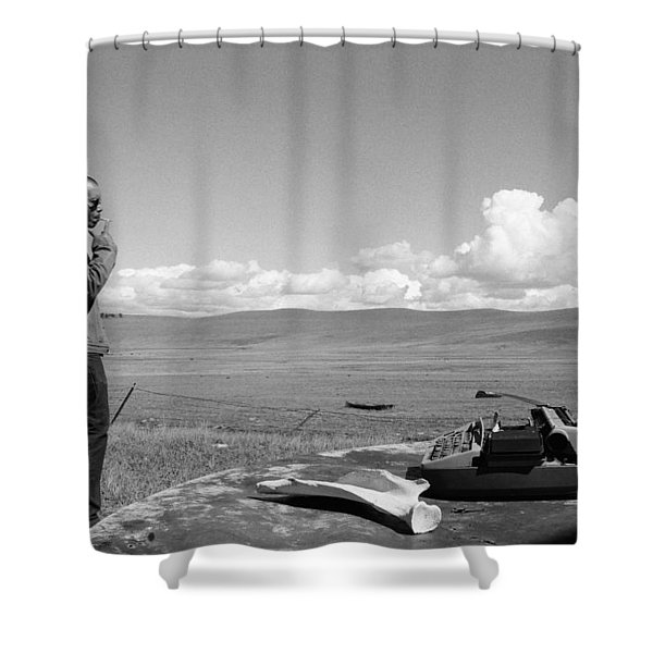 Office Of The Poet Shower Curtain