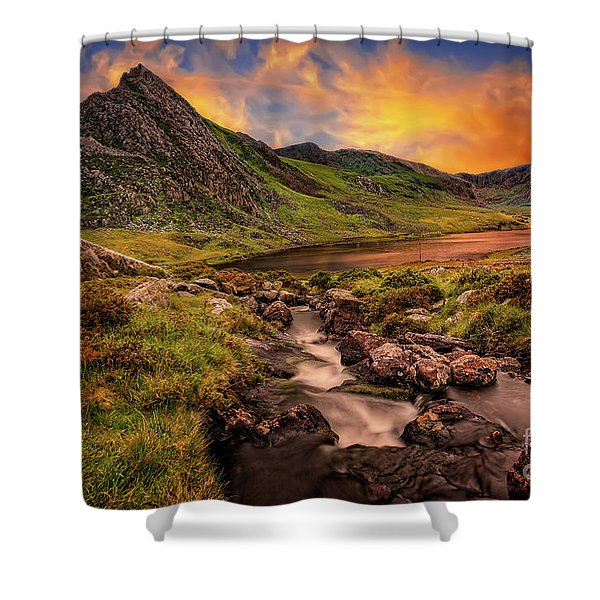 Ogwen Lake And Tryfan Snowdonia  Shower Curtain