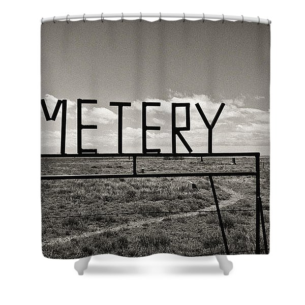 Oh, Bury Me Not Shower Curtain