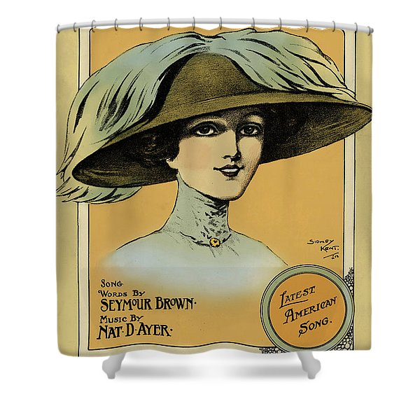 Oh, You Beautiful Doll  Vintage Poster Shower Curtain