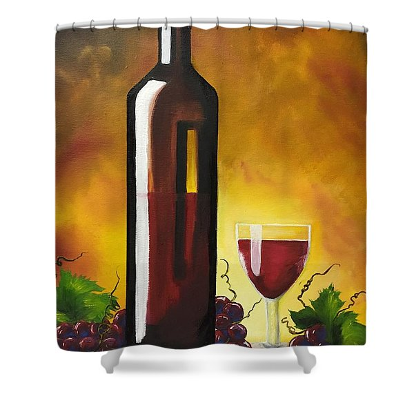 Okanagan Red  Shower Curtain