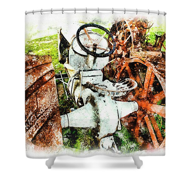 Old 1921 Fordson  Shower Curtain