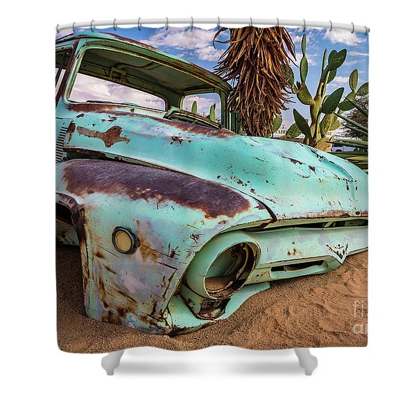 Old And Abandoned Car 7 In Solitaire, Namibia Shower Curtain