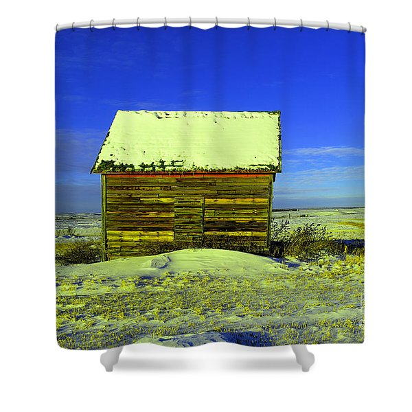 Old Barn In Winter Shower Curtain