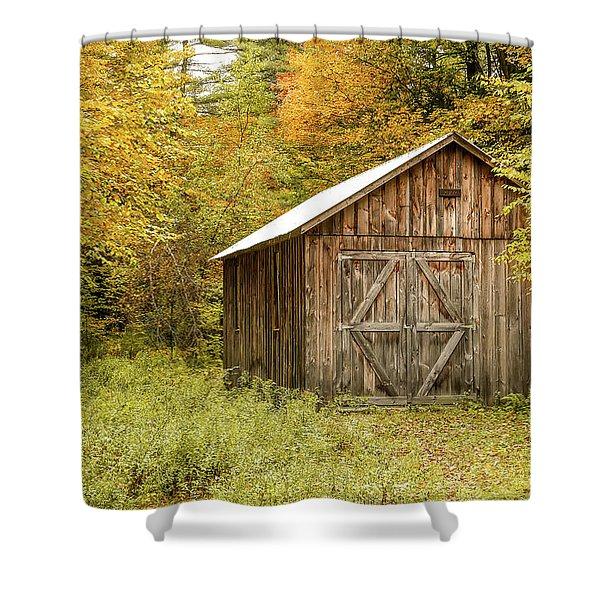 Old Barn New England Shower Curtain