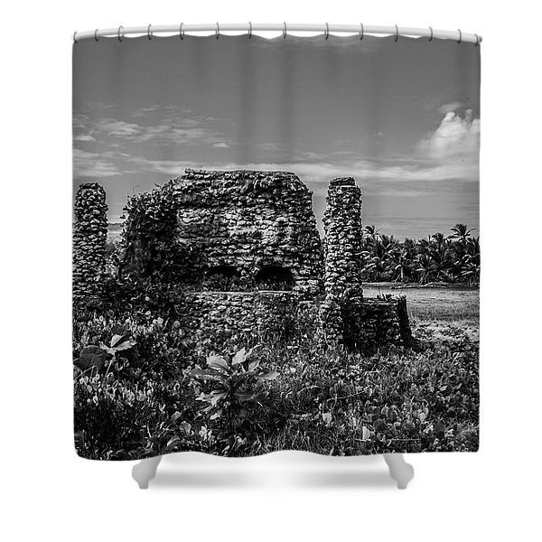 Old Brick Oven Shower Curtain