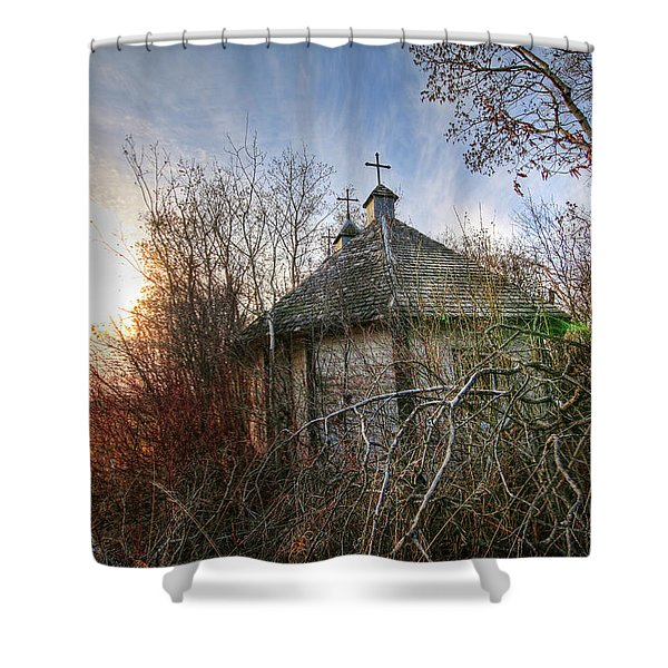 Old Calder Church Shower Curtain