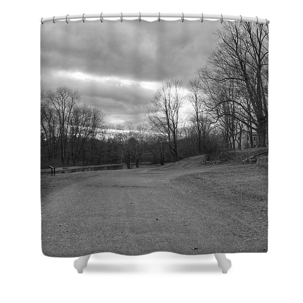 Old Canal Road - Waterloo Village Shower Curtain