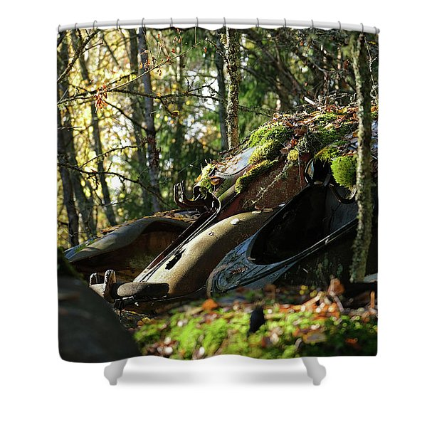 Old Cars Shower Curtain