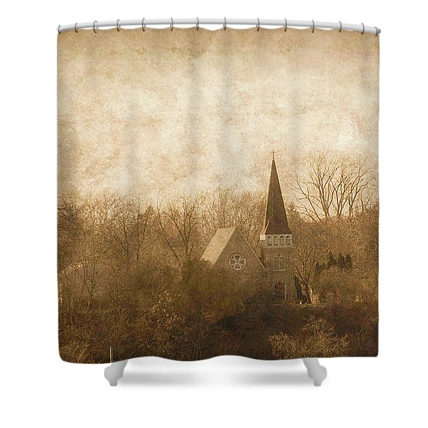 Old Church On A Hill  Shower Curtain