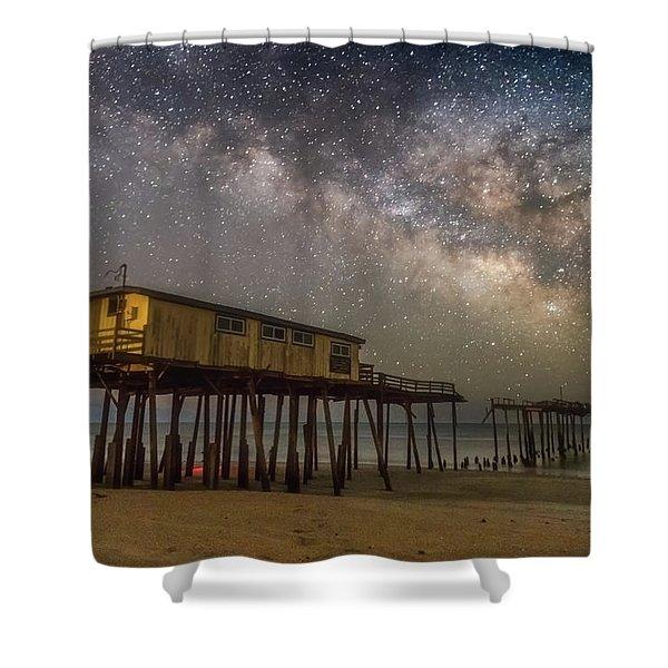 Old Frisco Pier Shower Curtain
