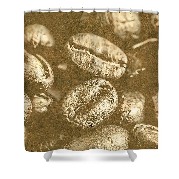 Old Gold Roast Shower Curtain