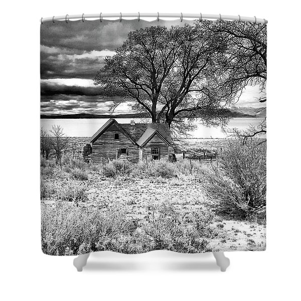 Old Homestead At Honey Lake Shower Curtain