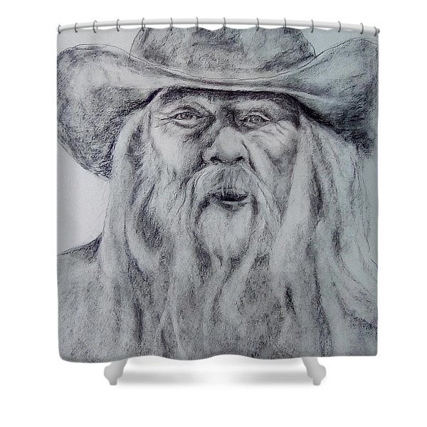 Old Man In A Hat  Shower Curtain