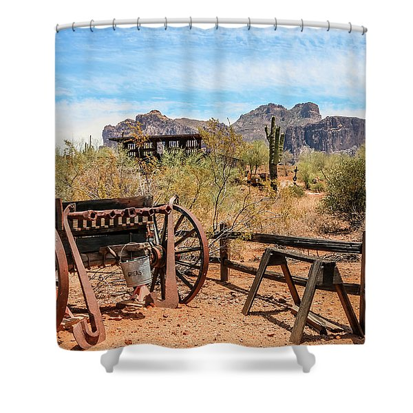 Shower Curtain featuring the photograph Old Mining Days 1 by Dawn Richards