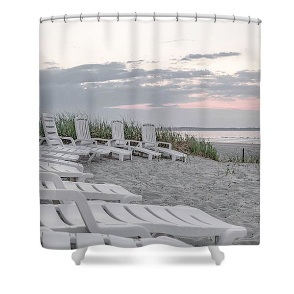 Old Orchard Beach Tranquil Morning Shower Curtain