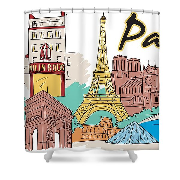 Shower Curtain featuring the digital art Old Paris by Stanley Mathis
