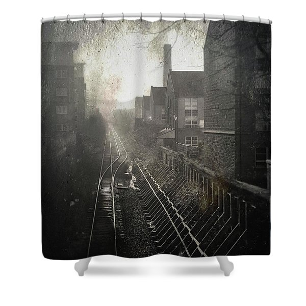 Old Railway Line Shower Curtain