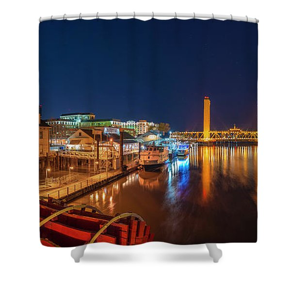 Old Sacramento Panorama Shower Curtain