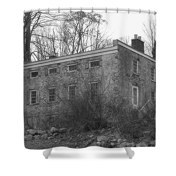 Old Stone House - Waterloo Village Shower Curtain