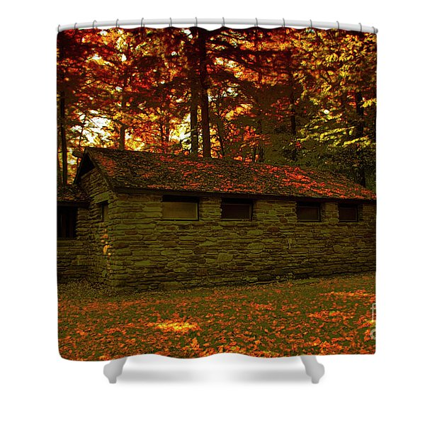 Old Stone Structure Shower Curtain