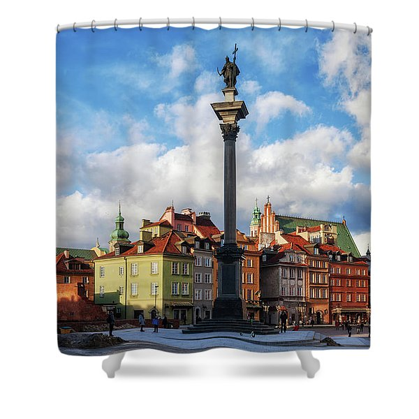 Old Town In City Of Warsaw Shower Curtain