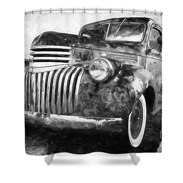 Old Truck  - Painterly Shower Curtain