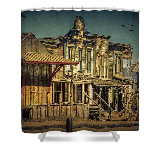 Old Western Town Shower Curtain