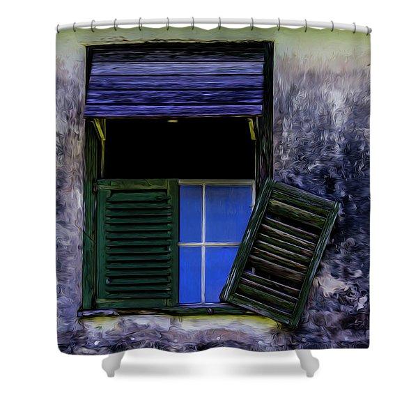 Old Window 2 Shower Curtain