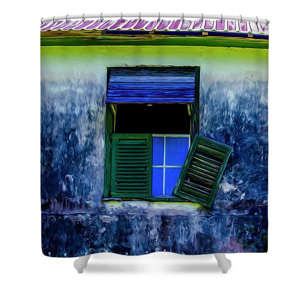Old Window 3 Shower Curtain