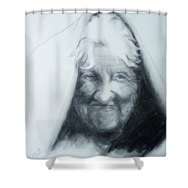 Old Woman Shower Curtain