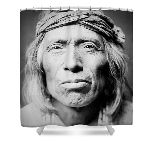 Old Zuni Man Circa 1903 Shower Curtain