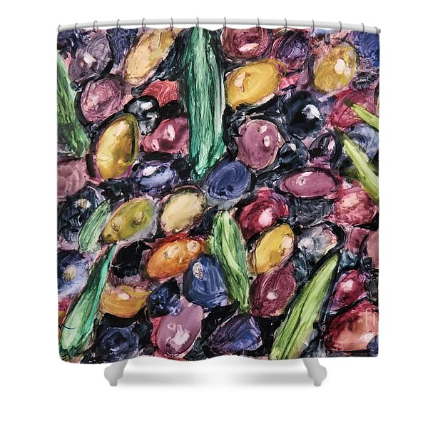 Olives Ready For Pressing Shower Curtain