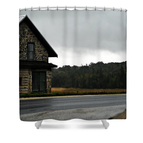 On A Cloudy Corner Shower Curtain