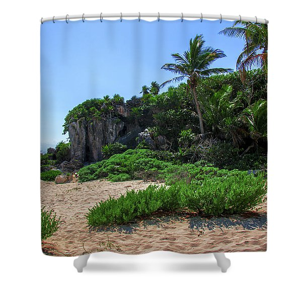 On The Coast Of Tulum Shower Curtain