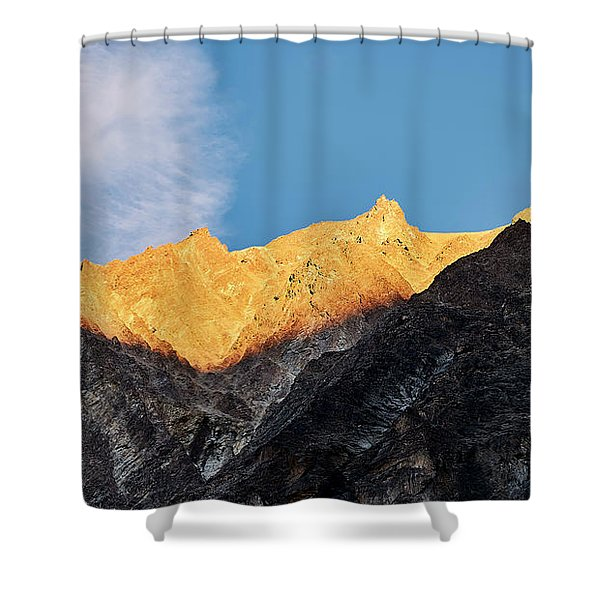 Shower Curtain featuring the photograph On The Ridge by Whitney Goodey