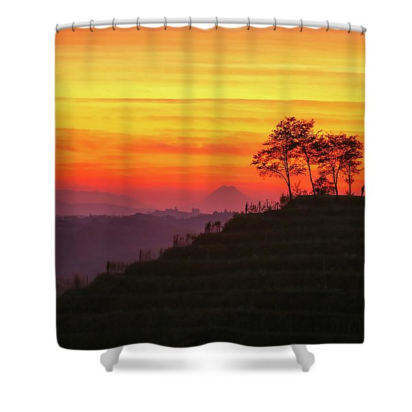 On The Viewpoint Shower Curtain