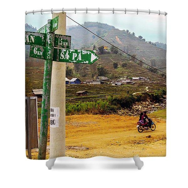 On The Way To Sapa, Vietnam Shower Curtain