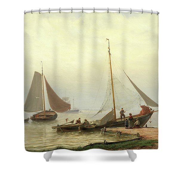 On The Zuiderzee Shower Curtain