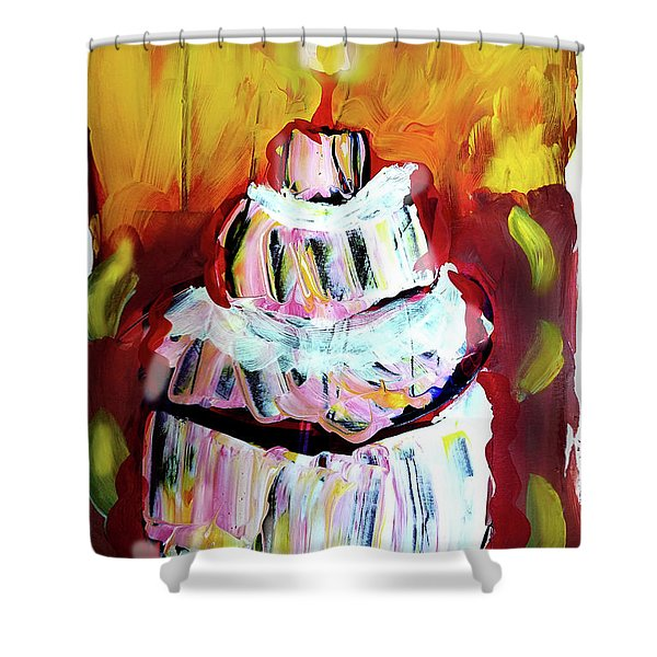 One Candle Shower Curtain