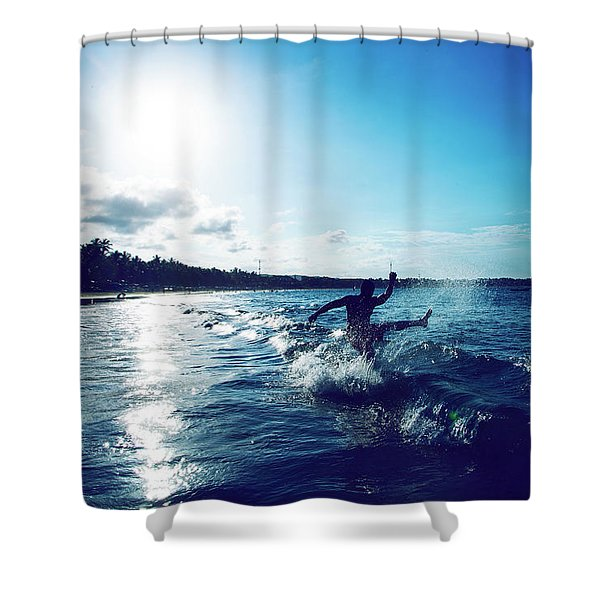 One Last Time Shower Curtain