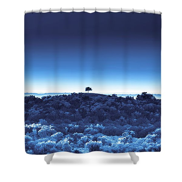 One Tree Hill - Blue - 3 Shower Curtain