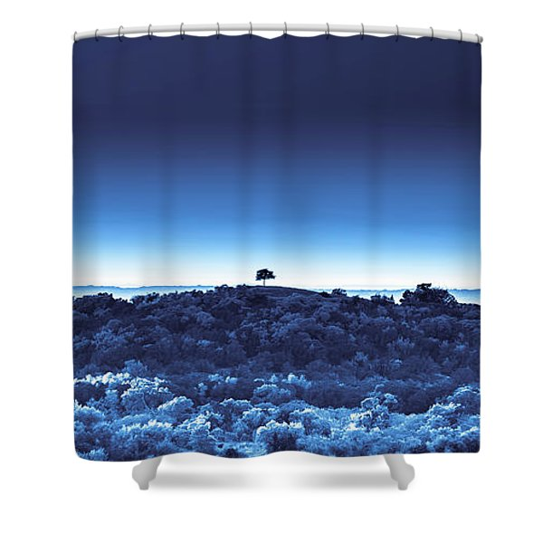 One Tree Hill - Blue 4 Shower Curtain