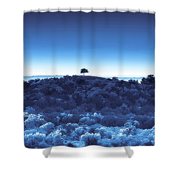 One Tree Hill - Blue Shower Curtain
