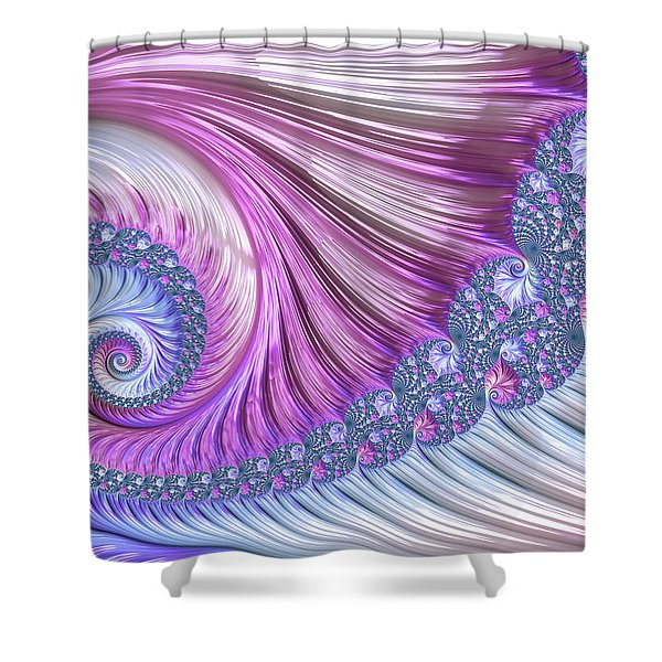 Opal Nautilus Shower Curtain