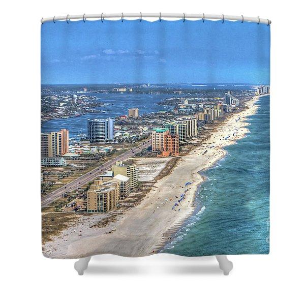 Orange Beach East Shower Curtain