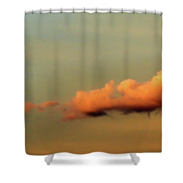 Orange Clouds Shower Curtain